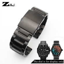 Stainless steel bracelet 24mm 26mm 28mm mens watch strap solid metal watchband for diesel watches band
