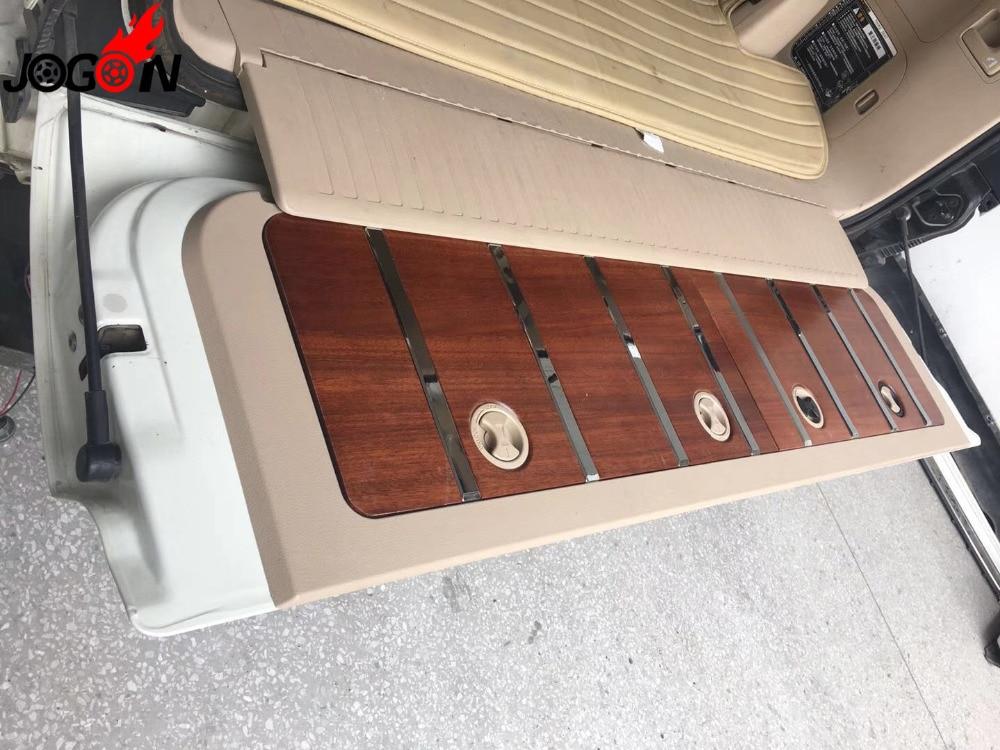 Заменить деревянный задний багажник Tailgate порога пластина внешней отделки Бампер протектор для Toyota Land Cruiser LC200 2016 2017 2018