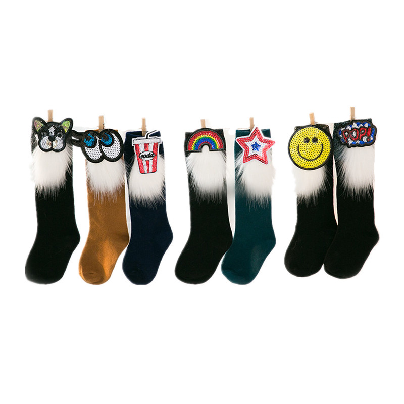 Fashion Baby Girls Socks Kids Children Sock With Sequins Spring Style leg Warmers Cotton Boys Socks 3-8years 3pairs a lot mother kids baby clothing socks leg warmers unisex all season suitable floor wear antislid socks for 0 3 year baby