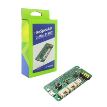 Raspberry Pi Respeaker Intelligent Voice Module Dual Microphone Expansion Board compatible Raspberry Pi 4B / 3B+ / 3B / Zero W supstronics x200 expansion board w adapter set for raspberry pi model b black multicolored