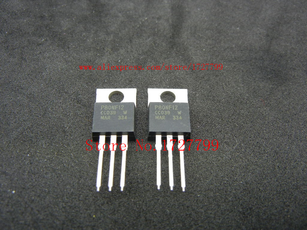 10PCS STP80NF12 P80NF12 TO-220 120V 80A