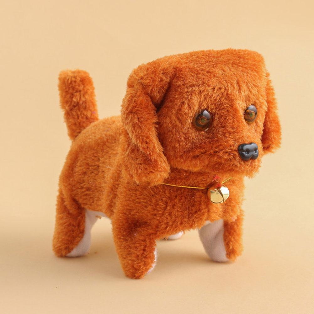 Electronic Dog Toys Battery Plush Walking Barking Electronic Pets Gift