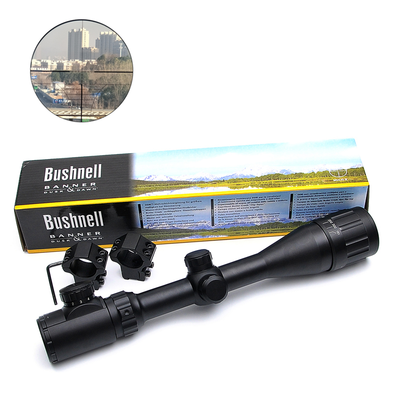 BUSHNELL 4-16X40 AOE Optics Riflescope Red&Green Dot Illuminated Sight Rifle Scope Sniper Gear For Hunting Scopes Airsoft Rifle бинокль bushnell powerview roof 8–16x40
