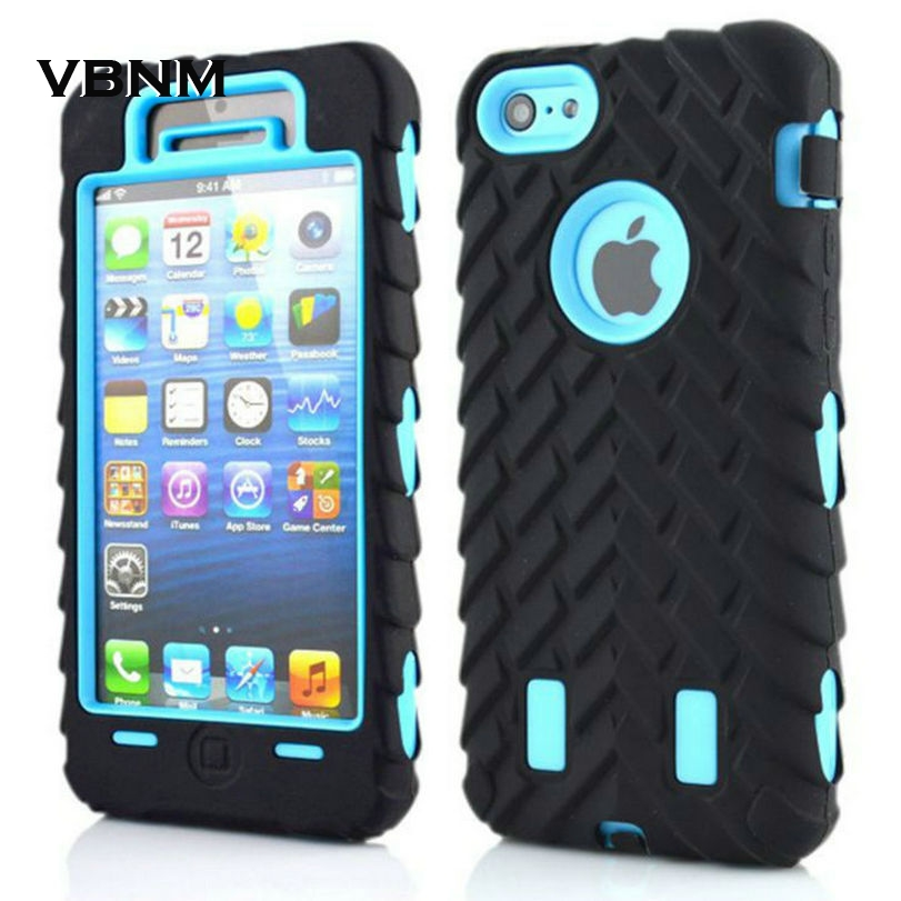 5 5S SE 5C 6 6S 7 Plus 4 4S New Tyre Tire Tread Robot Hybrid Anti Shock Armor Rubber Silicone Back Case Skin Cover For iPhone 5C