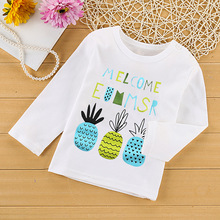 лучшая цена 2019 new cute baby boy clothes tshirt cartoon monk long sleeve t shirt kids clothing t-shirt cotton children clothe boy tops