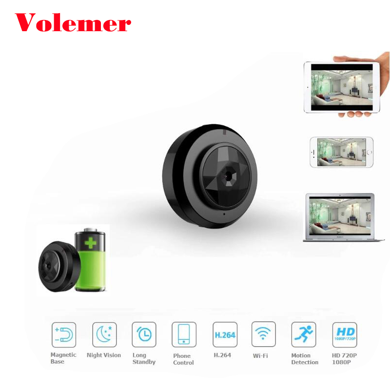 Volemer Wifi P2P mini camera 720P Infrared Night Version Monitor Concealed Wireless Action Cam DV DVR IP micro camera for Bike