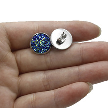 HOMOD 1Pair 12MM Stainless Steel Shiny Austrian Crystal Round Brincos Ear Studs Earrings For Girls Women Boucle Doreil