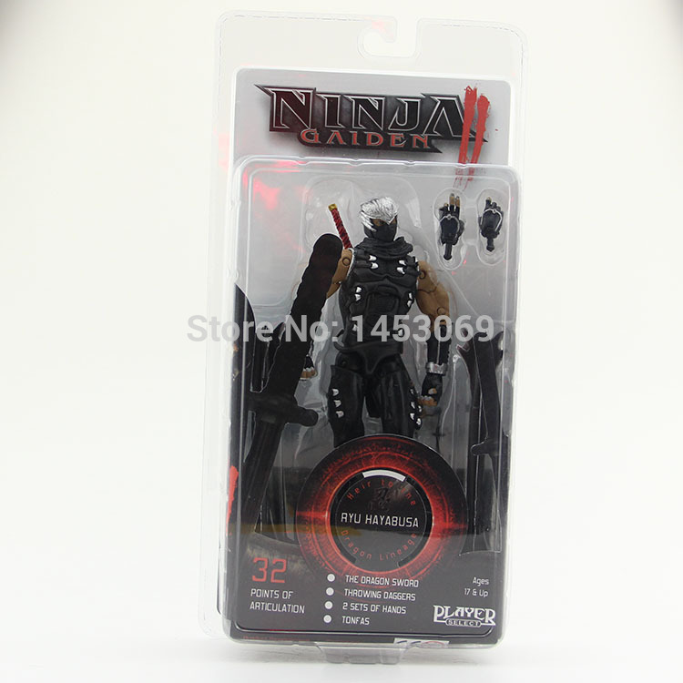 Free Shipping Ninja Gaiden II Ryu Hayabusa Neca Player Select Action Figure New in Box 718CM MVFG112