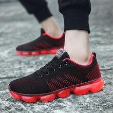 цены на Men Sneakers Breathable Mesh Running Shoes Full Cushion Fashion Outdoor Sport Shoes Men Walking masculino zapatillas hombre  в интернет-магазинах