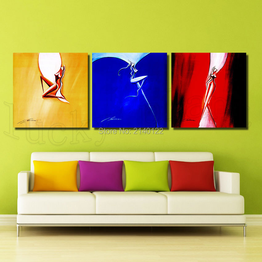 Abstract drawing 3pcs framed art flower canvas hd picture for Home decoration images hd
