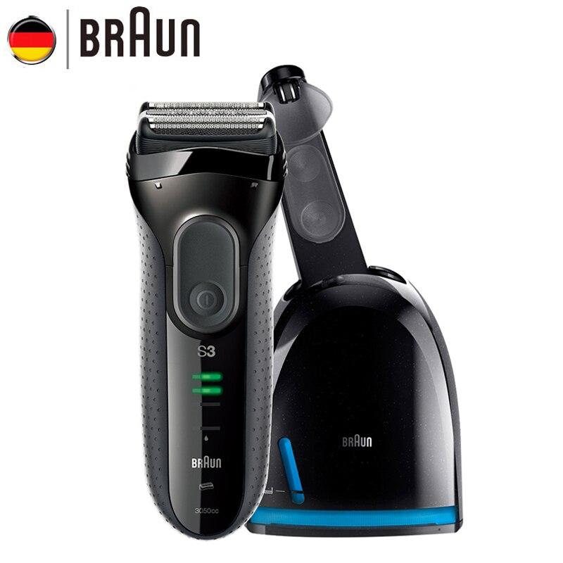 Braun Série 3 Électrique Rasoir 3050CC Rechargeable Rasoir Électrique pour Hommes Lavable Rasage Soins Personnels