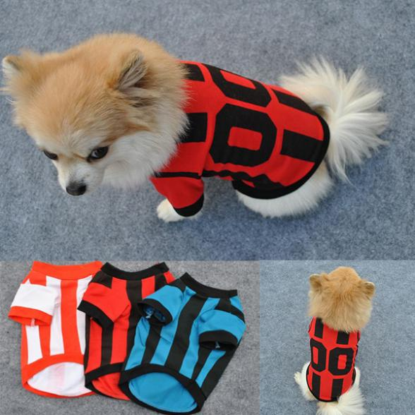 Pet Dog Puppy Doggy Chic Cotton Sports POLO Shirt Clothes T-Shirts Hot Selling