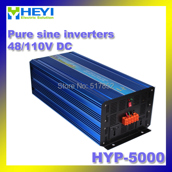 5000w Pure Sine Inverter 48V/110V HYP-5000 50/60Hz Soft start Dc Ac inverter Efficiency: > 90% Power Inverter 50 60hz 48v dc sine wave inverters 6000w