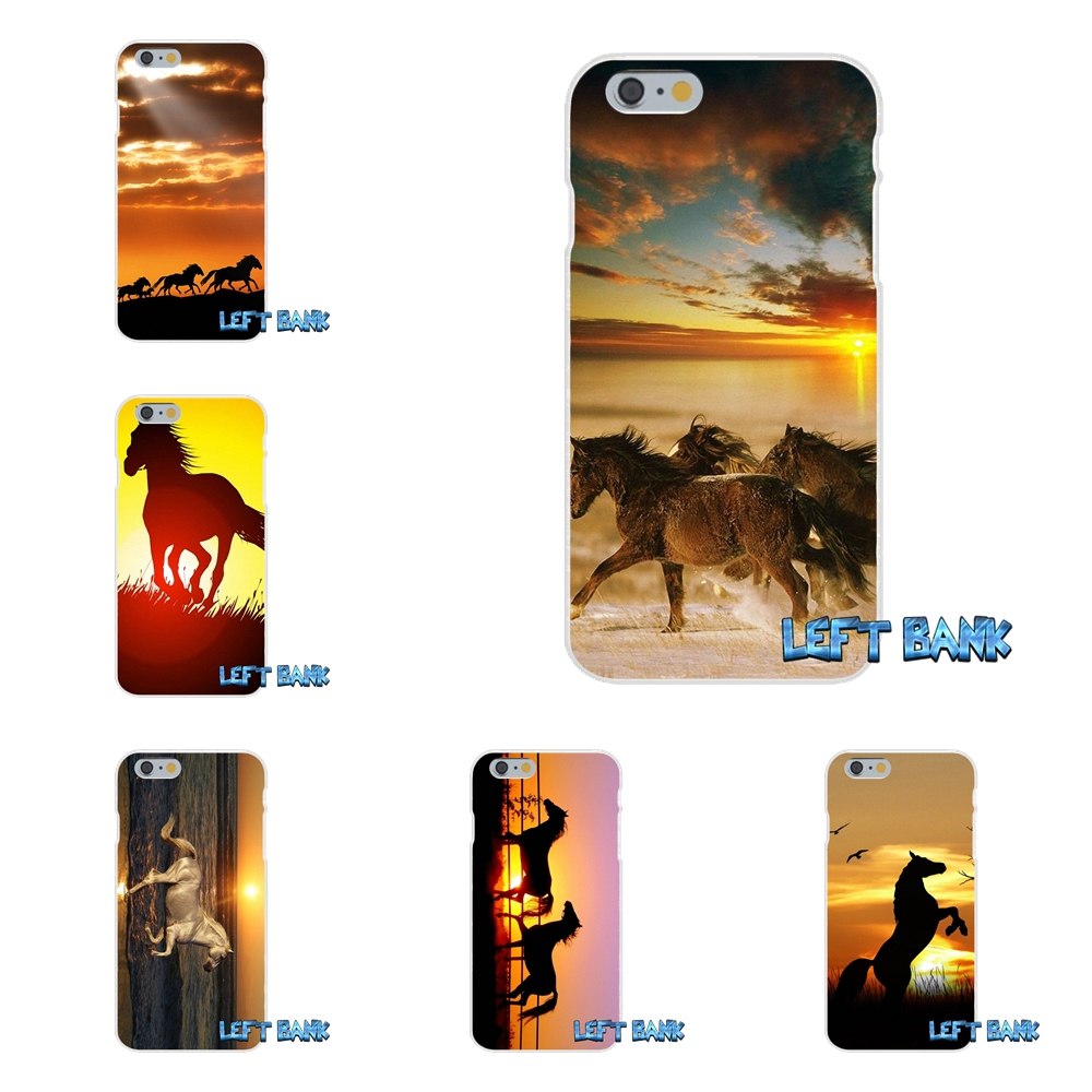 Beautiful Horses In Sunset Hd Wallpaper Slim Silicone Case