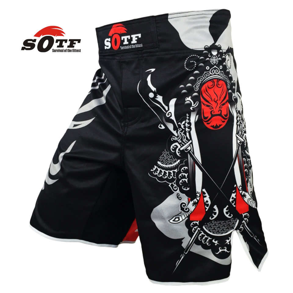 SOTF Beijing Features Face breathable cotton boxer shorts mma sports training thai boxing mma fight sho rts fight shorts shorts
