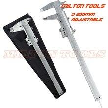 200mm/8 polegadas vernier caliper micometer calibre com multa-ajuste 0-200mm slider pinça ferramenta de medição