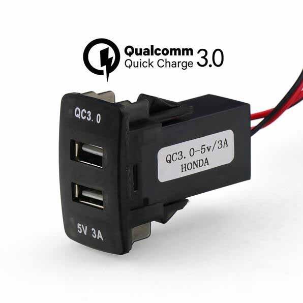 DC12V double USB QC3.0 chargeur de voiture socket adaptateur charge rapide 5 v 3A/9 v 2A/12 v 1.5A pour Nissan, toyota, Honda, Mitsubishi