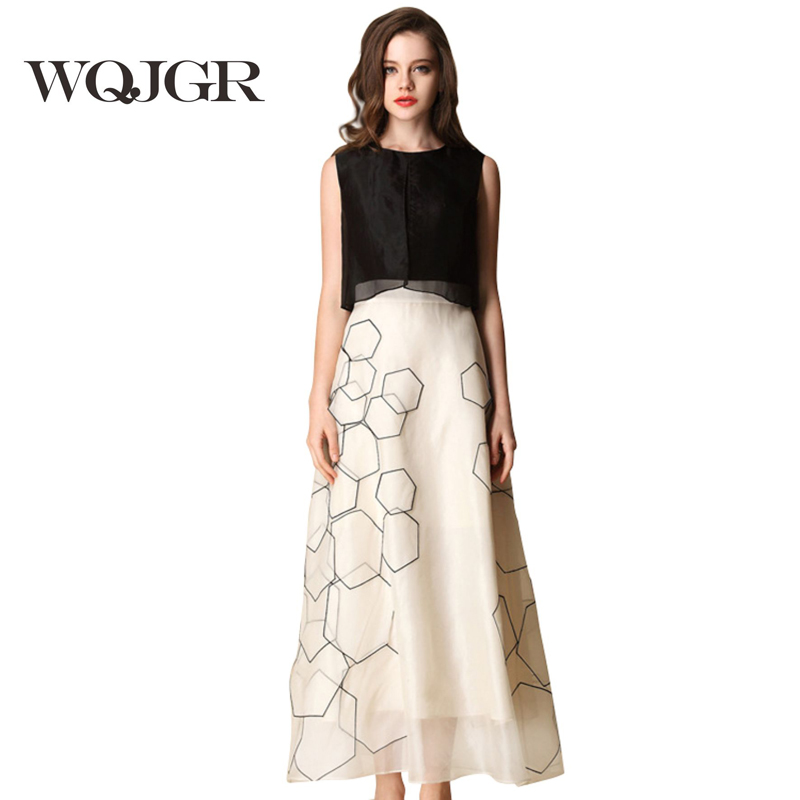WQJGR A Woman s Dress Silk Dress Is Sleeveless Dresses In Europe And America Pure Silk