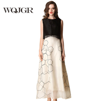 WQJGR A Woman's Dress Silk Dress Is Sleeveless Dresses In Europe And America Pure Silk