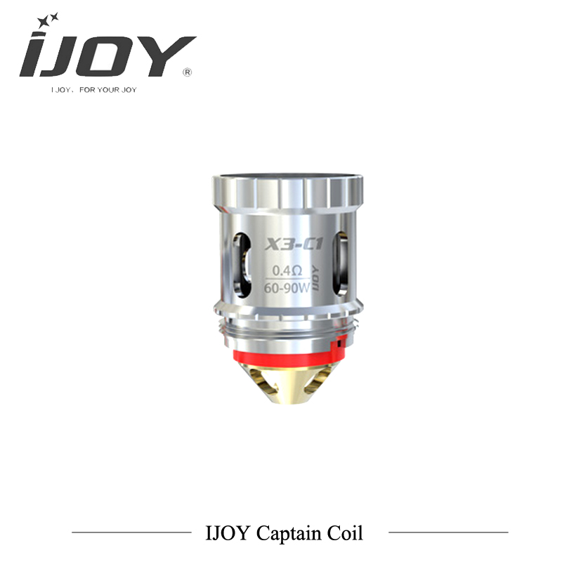 купить 3PCS/lot Original IJOY Captain X3 X3-C1 Dual Coil 0.4ohm 60W-90W X3-C3 Sextuple Coil 0.2ohm 90-110W Fit for Ijoy X3 Tank Vapor