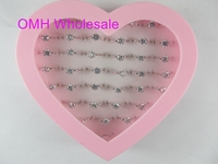 OMH Mix Wholesale Many Sizes 36Pcs/Set Crystal Girl Top Quality Finger Rings For Women Jewelry Gifts