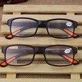 2016 Супер-мягкие Ультра-легкие Пластиковые Женщин Очки Для Чтения Мужчины Дальнозоркостью Очки Óculos Де Грау Gafas Де Lectura черный GiftYJ006