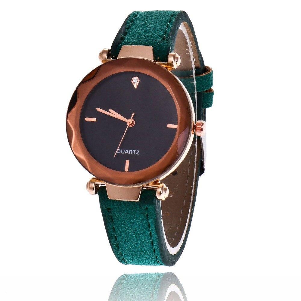 2018 Luxury Brand Women Watches Fashion Crystal Ladies Bracelet Watch High Quality Leather Quartz Watch Relogio Feminino Clock