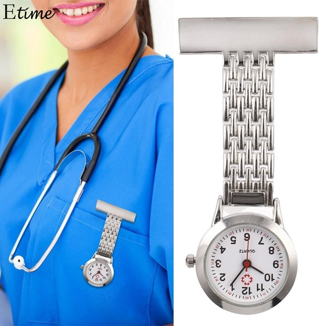 Pocket Watch Nurses Watch Brooch Tunic Fob Pocket Stainless Dial Watches Fob Wat