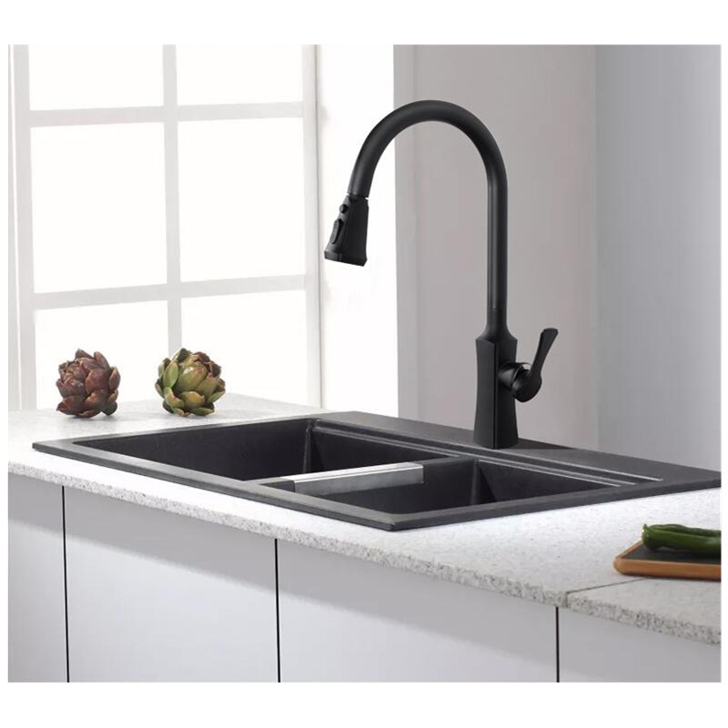 Newly Arrived Pull Out Kitchen Faucet black Sink Mixer Tap 360 degree rotation kitchen mixer taps Kitchen Tap