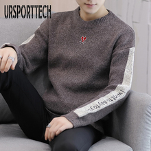 Sweater Male Korean Version Of The Trend Line Clothes Autumn And Winter New Round Neck Love And Letter Decoration Slim Size 3XL
