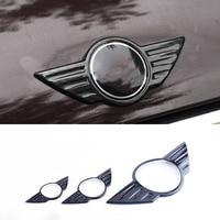 Carbon Fiber Car Badge Logo Front Bonnet Hood Rear Trunk Tail Emblem for Mini Cooper F54 F55 F56 F60 R60 R61 R55 R56 Countryman