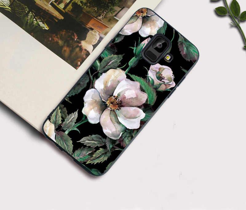Caso de Telefone macio Para Samsung S9 S8 Plus S7 S6 Borda J7 DUO J3 J5 J7 2017 Edição Europeia Peixe cat Caso de Mármore Cobre Funda Coque
