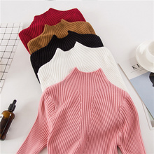 Women Fashion Sweater 2019 New Autumn Winter Gray Red Black Tops Women Knitted Pullovers Long Sleeve Shirt Female Brand Clothing