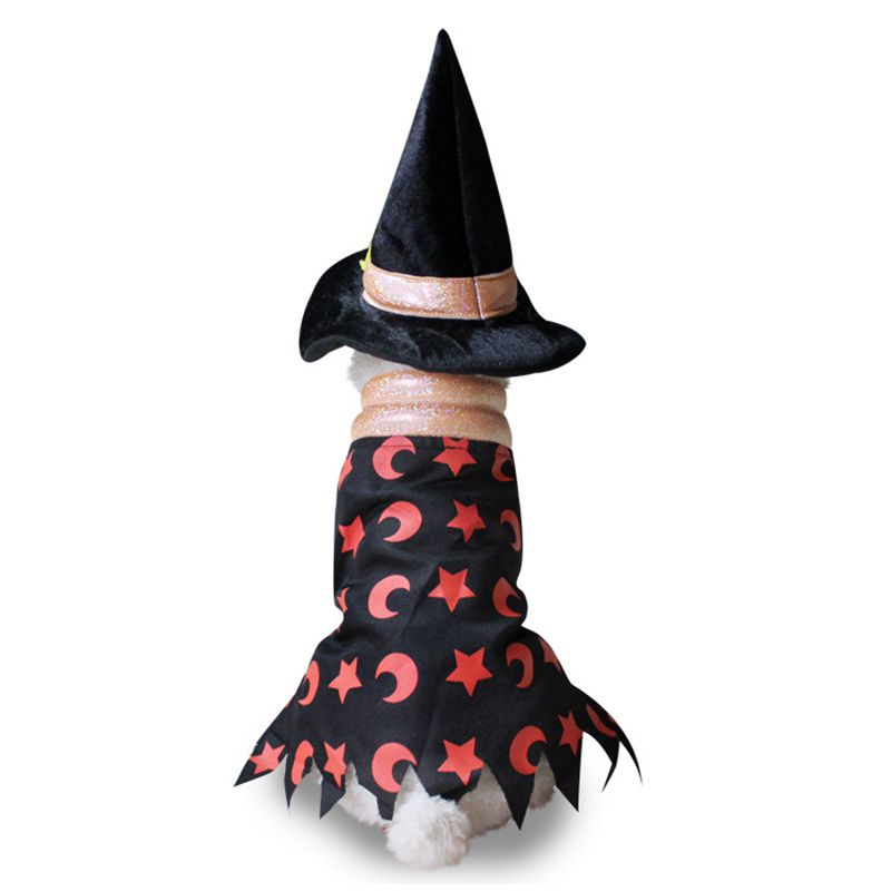 WCIC Halloween Dog Costume Soft Cat Puppy Christmas Clothing Wizard Pope Santa Claus Dressing Up Suit Pets Funny Party Costume