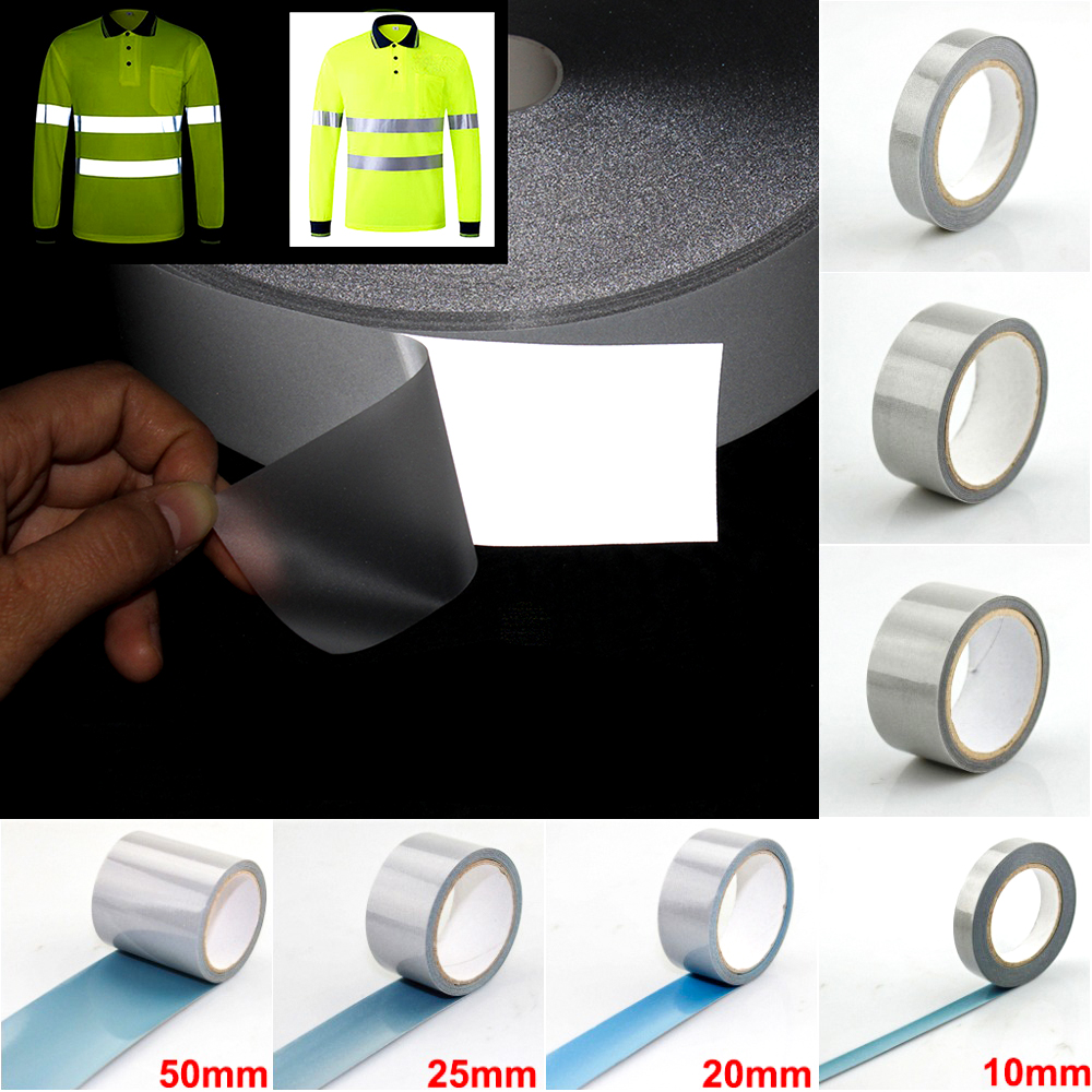 High Visibility Safety Reflective Heat Transfer Vinyl Film DIY Silver Iron On Reflective Tape For Clothing
