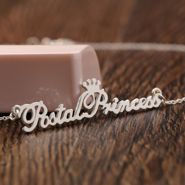 Personalized name necklace 925 solid silver name necklace pendant personalized name necklace 925 solid silver name necklace pendant with crown winner christmas gift aloadofball Image collections