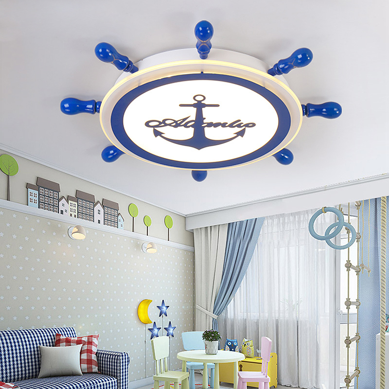 Здесь продается  Modren LED ceiling lights for children Living room Bedroom Rudder shape Kids room ceiling lamp Indoor Home Decoration Fixture  Свет и освещение