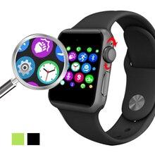 LF07 Bluetooth Smart Uhr 2.5D ARC HD Screen Unterstützung SIM Karte Tragbare Geräte SmartWatch Magie Knopf Für IOS Android Neue