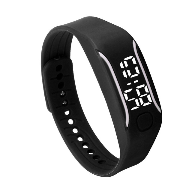 2018 New Fashion LED Sports Running Watch Date Rubber Bracelet Digital Wrist Watch Sports Watch Womens Mens Fitness Watch