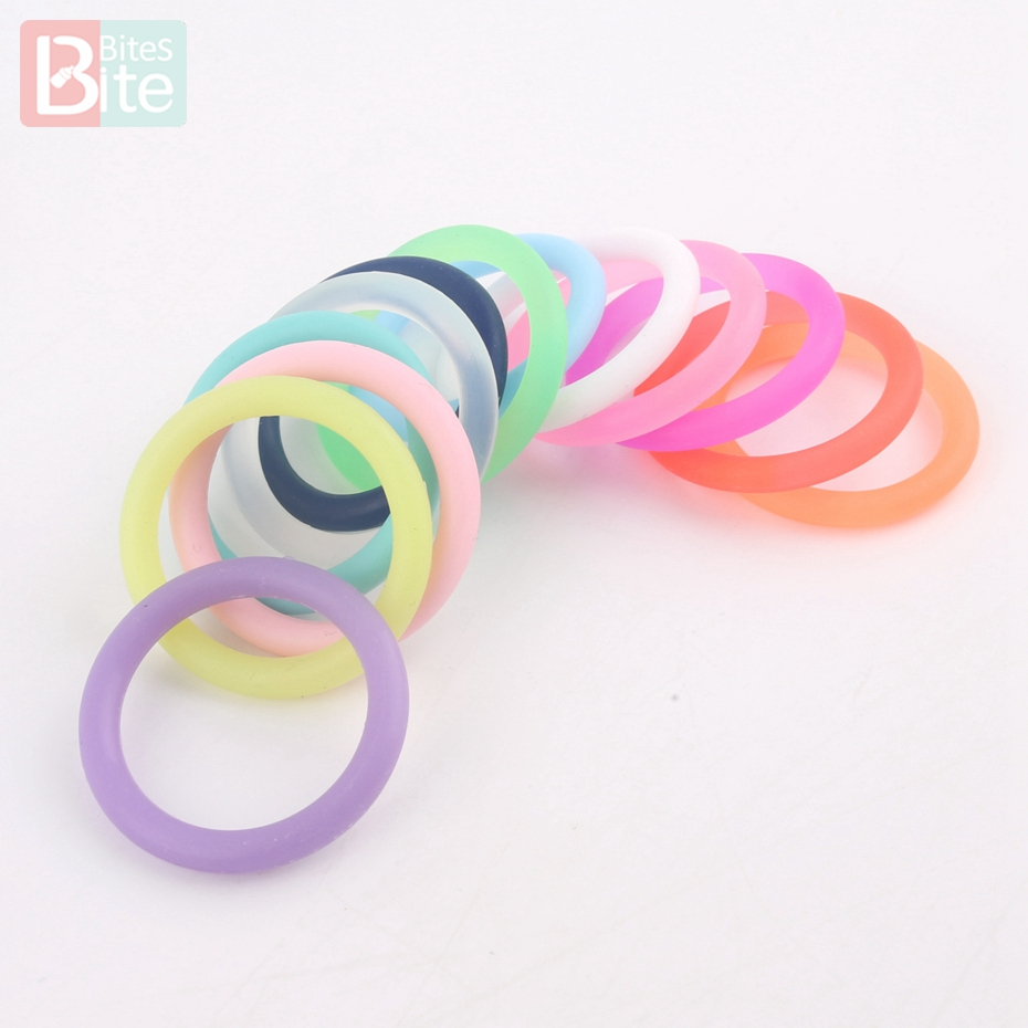 Bite Bites 10pcs Soother Clip Rubber Circle 22mm Silicone Ring Baby Attachment Baby Teether General Silicone Teether