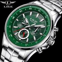 LIGE Ver Hombres de Negocios A Prueba de agua Reloj Para Hombre Relojes de Lujo Superior de la Marca de Moda Ocasionales de Los Deportes de Cuarzo Reloj de pulsera Relogio masculino