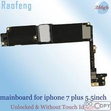 Raofeng без Touch ID разблокированная материнская плата для Apple iPhone 7 Plus 5,5 дюймов материнская плата 256 ГБ с ios работать ЧИПАМИ материнскую плату