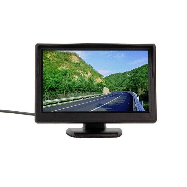 5 дюймов Цветной TFT ЖК-Монитор Вид Сзади Автомобиля Парковка заднего вида Монитор Для DVD, VCD, Камера Заднего Вида Бесплатная Доставка ~