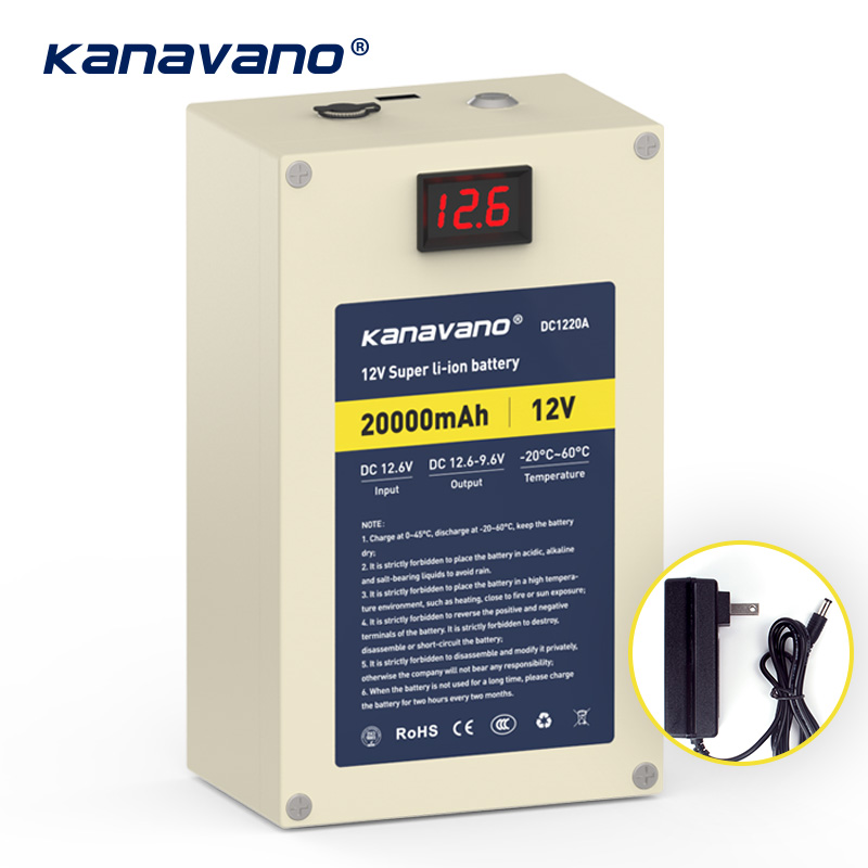 Meilleur 12 v 20ah lithium ion rechargeable batterie avec USB interface 18650 batteries au lithium pack et DC 12.6 v 2A chargeur
