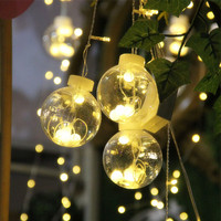 3m 16Wishing Balls 120LED Lamps Window Curtain Icicle Light String Light Home Decoration For Christmas Wedding