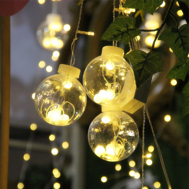 3m 16Wishing Balls 120LED Lamps Window Curtain Icicle Light String Light Home Decoration for Christmas Wedding Party 110/220V window curtain led string white lights 3m x3m for xmas wedding party decor 220v eu plug party decorations 304 led