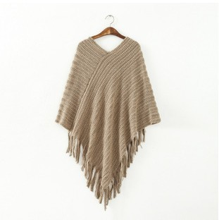2014 New Wool Cape Poncho Knit Tassels Echarpe Women Keep Warm Winter Pashmina Spain DesigN Pullover   Scarves     Wraps   SF02