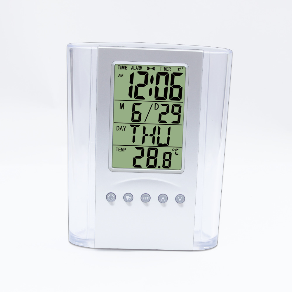 JIMEI H801 high quality life Multifunction pen holder calendar thermometer alarm clock