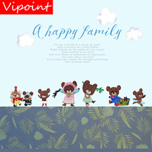 VIPOINT embroidery fox bear mouse patch cartoon animal patches badges applique for clothing LX-10