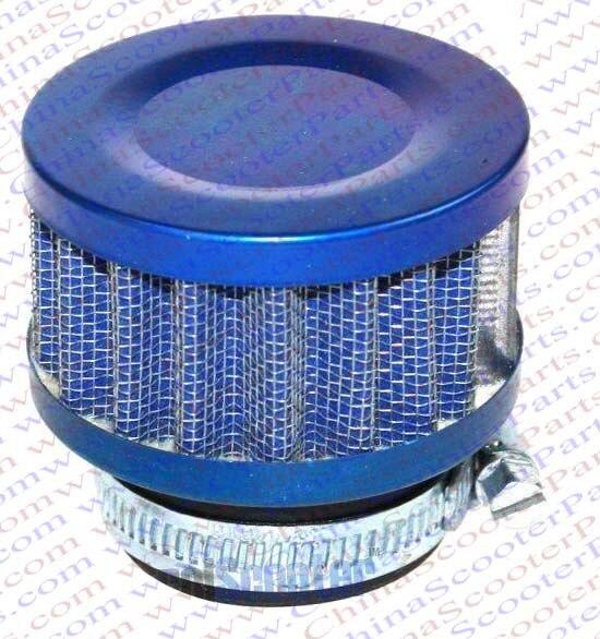 35MM Air filter Blue Grid Blue Cap Mini Moto Dirt Pit Bike ATV Quad Scooter Buggy Pocket Parts